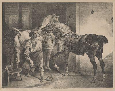 Кузнец. Литография по этюду Теодора Жерико , 1822 год.