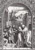 Иоаким и Анна у Золотых ворот (у входа в храм) (из Жития Богородицы Альбрехта Дюрера)