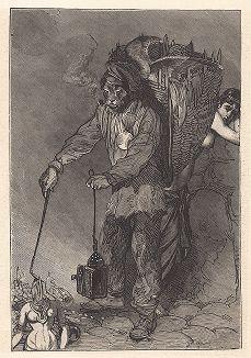 """Девятый лист серии """"Бельфорский лев"""" Макса Эрнста, входящей в роман-коллаж """"Une Semaine de bonté"""" (Неделя доброты), 1934 год."""