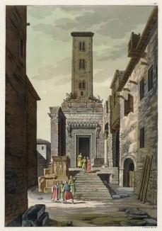 Башня в Далмации (из работы Джулио Феррарио Il costume antico e moderno, o, storia... di tutti i popoli antichi e moderni, изданной в Милане в 1816 году (Европа. Том I))