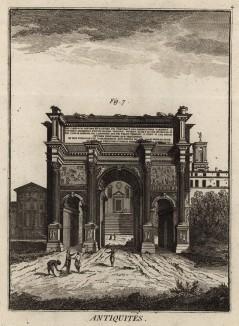 Арка Септимия Севера (Ивердонская энциклопедия. Том I. Швейцария, 1775 год)