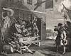 Вторжение: Англия. Гравюра II, 1756. В ожидании войны с французами британцы беззаботно насмехаются над королем Франции. Они уверены в будущей победе. Справа доброволец: он прибавляет себе рост, чтобы попасть в армию. Геттинген, 1854