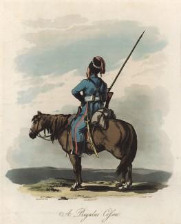 Казак (из Travelling Sketches in Russia and Sweden... by Robert Ker Porter (англ.). Том I. Лондон. 1809 год)