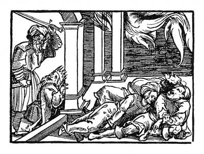 Сын султана острова Ормус. Иллюстрация Йорга Бреу Старшего к описанию путешествия на восток Лодовико ди Вартема: Ludovico Vartoman / Die Ritterliche Reise. Издал Johann Miller, Аугсбург, 1515
