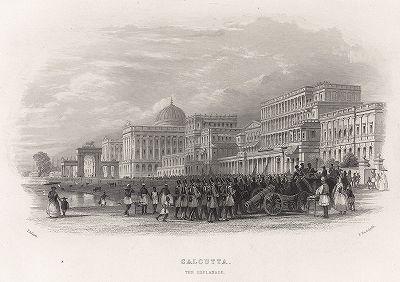 Эспланада в Калькутте. Gallery of Historical and Contemporary Portraits… Нью-Йорк, 1876