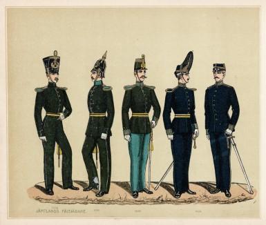 Мундиры шведских егерей полка Jamtlands (шв.) в 1838--1902 гг.