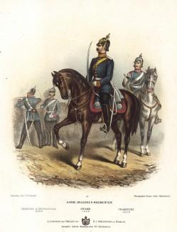 Офицер прусских гвардейских драгун в униформе образца 1870-х гг. Preussens Heer. Берлин, 1876