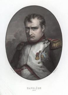 Портрет императора Наполеона I Бонапарта в 1815 г. A.Thiers, Consulat et Empire, Париж, 1837