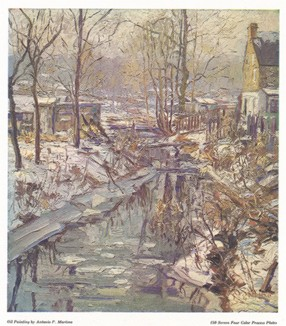 Канал. С живописного оригинала Пьетро Антонио Мартино (1902--1988 гг., США).