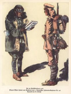 Палестинский фронт. Германский лётчик и мушкетёр 146-го пехотного полка в 1918 году (из популярной в нацистской Германии работы Мартина Лезиуса Das Ehrenkleid des Soldaten... Берлин. 1936 год)