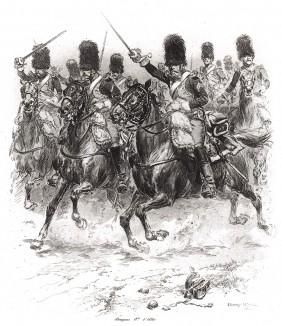 1812 год. Французские конные гренадеры в атаке (из Types et uniformes. L'armée françáise par Éduard Detaille. Париж. 1889 год)