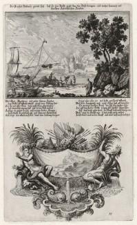 1. Пророк Аввакум 2. Пророчество Аввакума (из Biblisches Engel- und Kunstwerk -- шедевра германского барокко. Гравировал неподражаемый Иоганн Ульрих Краусс в Аугсбурге в 1700 году)