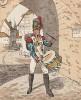 Барабанщик 10-го гренадерского полка баварской армии в униформе образца 1809 г. Uniformenkunde Рихарда Кнотеля, л.4. Ратенау (Германия), 1890