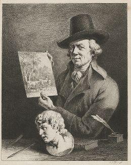 Автопортрет французского художника и гравера Жан-Жака де Буассье, 1796 год.