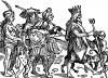 Паломничество султана. Иллюстрация Йорга Бреу Старшего к описанию путешествия на восток Лодовико ди Вартема: Ludovico Vartoman / Die Ritterliche Reise. Издал Johann Miller, Аугсбург, 1515