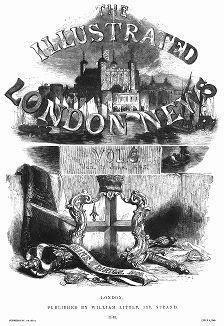 Титульный лист The Illustrated London News vol.4 январь--июнь 1845 года