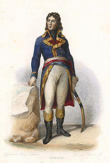 Генерал Луи Шарль Антуан Дезе (1768-1800) - герой битвы при Маренго. Лист из серии Le Plutarque francais..., Париж, 1844-47 гг.