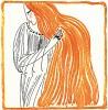 Реклама шампуня «Pétrole Hahn» с очищенной нефтью для здоровья волос от швейцарского фармацевта Шарля Ана. Les feuillets d'art. Париж, 1920