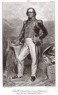 Николя Жан де Дьё Сульт (1769-1851),  маршал с 1804 г. и главный маршал Франции с 1847 года. ,Galerie des Marechaux de France par Ch. Gavard, Париж, 1839 год.
