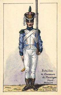 Солдат егерского батальона de Flessingue французской армии. Коллекция Роберта фон Арнольди. Германия, 1911-28