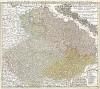 Карта Богемии и южной части герцогства Силезия. Carte des états de Boheme avec le souverain duché de Silesie… Составил Иоганн Баптист Гомман. Нюрнберг, 1748