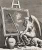 Время обкуривает картину, 1761. Подписной талон на покупку «Сигизмунды». Сюжет навеян модой на живописные работы старых мастеров. Хогарт пытался убедить арт-дилеров и покупателей, что не все старое представляет художественную ценность. Геттинген, 1854