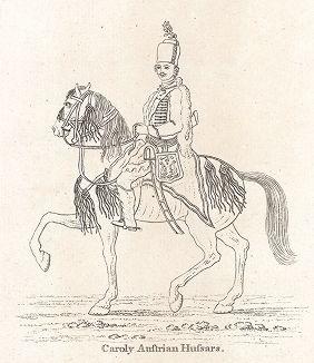 """Прусский """"черный гусар"""". Лондон, 1785 г."""