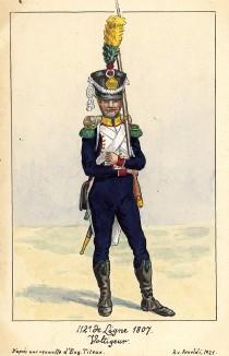 1807 г. Вольтижер 112-го полка французской линейной пехоты. Коллекция Роберта фон Арнольди. Германия, 1911-28