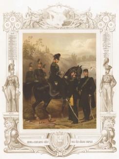 """Конные егеря короля Швеции (из """"Истории шведских полков"""" члена шведского парламента Юлиуса Манкела. Стокгольм. 1864 год)"""