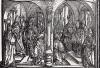 Святой Рокк трирский (деталь дюреровской Триумфальной арки императора Максимилиана I)