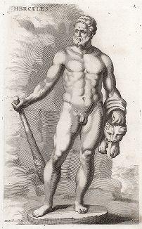 Геракл с львиной шкурой. Лист из Sculpturae veteris admiranda ... Иоахима фон Зандрарта, Нюрнберг, 1680 год.