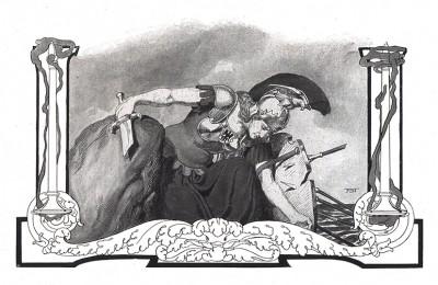 Пруссия со сломанным мечом. Франц Стассен для Die Deutschen Befreiungskriege 1806-1815. Берлин, 1901