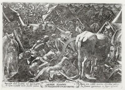 Вторжение Гедеона в лагерь врага (из работы Testamento vecchio (лат.), изданной в Риме в 1660 году)