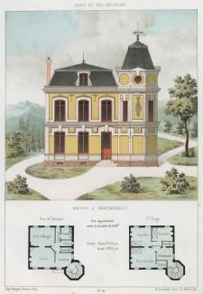 Дом в парижском предместье Монморанси (из популярного у парижских архитекторов 1880-х Nouvelles maisons de campagne...)