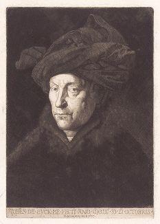 Портрет мужчины (в красном тюрбане) работы Яна ван Эйка. Возможно, это автопортрет.