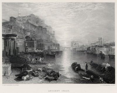"""Древний Рим (лист из альбома """"Галерея Тёрнера"""", изданного в Нью-Йорке в 1875 году)"""