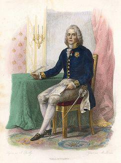 Шарль Морис де Талейран-Перигор (1754-1838) - дипломат и министр иностранных дел Франции. Лист из серии Le Plutarque francais..., Париж, 1844-47 гг.