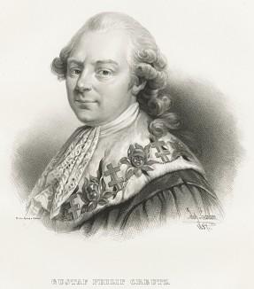 Густав Филип Крейтц (1 мая 1731 - 30 октября 1785), князь, государственный деятель, дипломат и поэт, друг Бенджамина Франклина. Galleri af Utmarkta Svenska larde Mitterhetsidkare orh Konstnarer. Стокгольм, 1842