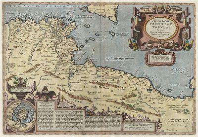 Карта Северной Африки.  Составил Абрахам Ортелий для Theatrum Orbis Terrarum Abrahami Ortelii. Антверпен, 1612