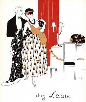 Реклама парижского ресторана Chez Larue. Les feuillets d'art. Париж, 1920