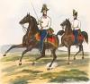 Штаб-офицер и полковой адъютант немецких гренадер австрийской армии (из K. K. Oesterreichische Armée nach der neuen Adjustirung in VI. abtheil. II te. Abtheil. Infanterie. Лист 3. Вена. 1837 год)