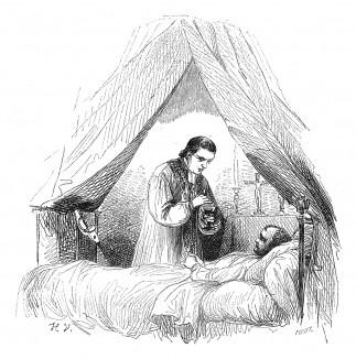 21 апреля 1821 г. Наполеон Бонапарт исповедуется аббату Виньяли. Histoire de l'empereur Napoléon, Париж, 1840