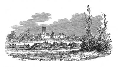 Винсенский замок, где 21 марта 1804 года по ложному обвинению в заговоре расстрелян герцог Энгиенский, потомок принцев Конде. Histoire de l'empereur Napoléon. Париж, 1840