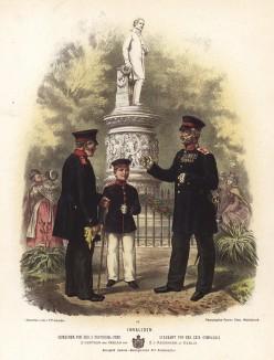 Ветераны прусской армии в униформе образца 1870-х гг. Preussens Heer. Берлин, 1876