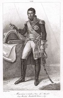 Андре Массена (1758-1817), маршал Франции с 1804 года. Galerie des Marechaux de France par Ch. Gavard, Париж, 1839 год.