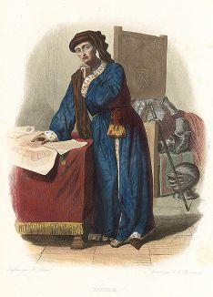 Жан де Дюнуа (1402-1468) - французский военачальник и сподвижник Жанны д'Арк. Лист из серии Le Plutarque francais..., Париж, 1844-47 гг.