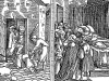 Бдение у гроба. Иллюстрация к роману Апулея «Метаморфозы, или Золотой осёл». Монограммист N.H. Аугсбург, 1538. Репринт 1929 г.