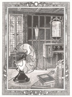 Реклама радиолы и вентилятора компании Day Fan Electric 1920-х годов.