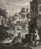 Ложная перспектива, 1753. Шуточный рисунок Хогарта послужил его другу Джошуа Керби фронтисписом к книге «Метод легкой перспективы Тейлора в теории и на практике» (1754), которую Керби посвятил Хогарту. Лондон, 1838