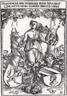 Герб для Кристофа Шейрля, гравированный Альбрехтом Дюрером